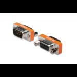 ASSMANN Electronic ZERO MODEM ADAPTER D-SUB9 METAL HOUSING M/F VGA (D-Sub) Oranje, Zilver