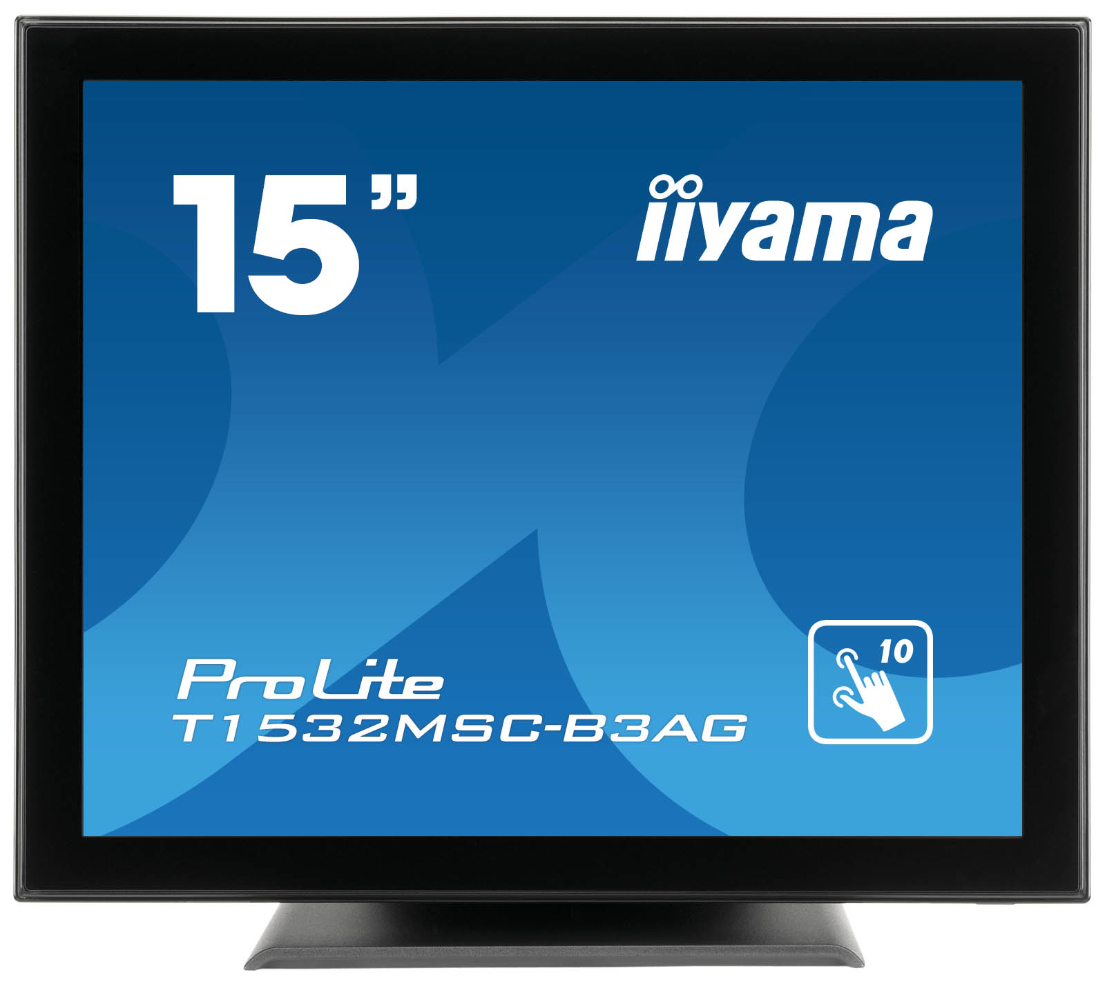 "iiyama ProLite T1532MSC-B3AG touch screen monitor 38.1 cm (15"") 1024 x 768 pixels Black Multi-touch Tabletop"