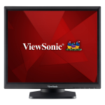 "Viewsonic TD1711 touch screen monitor 17"" 1280 x 1024 pixels Black Single-touch Multi-user"