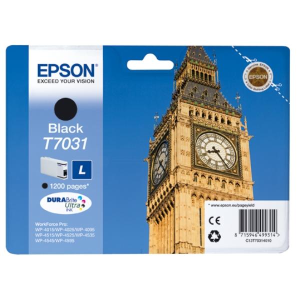 Epson C13T70314010 (T7031) Ink cartridge black, 1.2K pages, 24ml