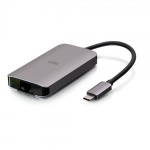 C2G USB-C 4-in-1 Mini Dock with HDMI, USB-A, Ethernet, and USB-C Power Delivery up to 100W - 4K 30Hz
