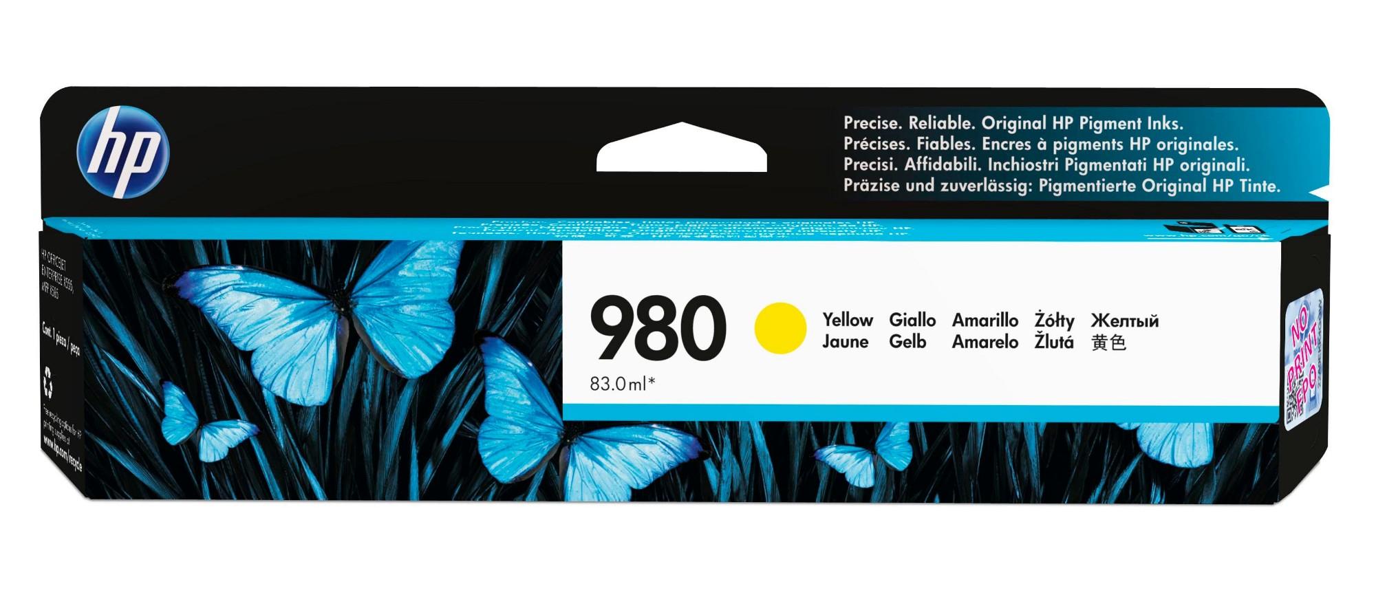 HP 980 Original Amarillo 1 pieza(s) Rendimiento estándar