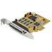 StarTech.com Tarjeta Adaptadora PCI Express Serie de 8 Puertos RS232 - Tarjeta Serial PCIe - DB9 UART 16C1050 - Tarjeta de Expansión Controladora Adaptador Serie Multipuertos - con Protección ESD de 15kV - para Windows y Linux