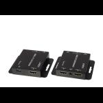Lindy 38144 AV extender AV transmitter & receiver Black