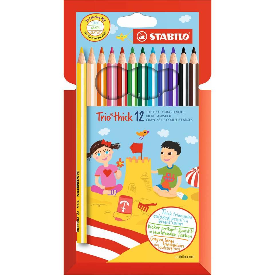 STABILO Trio thick colour pencil Multicolour 12 pc(s)