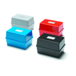 Deflecto Value Deflecto Card Index Box 8x5 Red