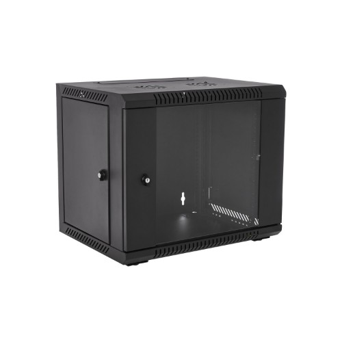 V7 RMWC9UG450-1E rack cabinet 9U Wall mounted rack Black