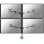 Newstar FPMA-D935D4 Flat panel Tischhalter 68,6 cm (27 Zoll) Klemme Silber