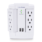 CyberPower CSP600WSURC2 surge protector 6 AC outlet(s) 125 V White
