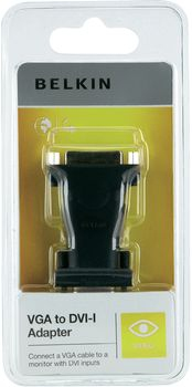 Belkin DVI-I to VGA Adapter - Charcoal - (F2E4261CP)