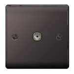 Nexus NBN60 Coaxial Black,Nickel socket-outlet