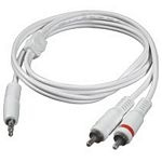 C2G 1m 3.5mm Male to 2 RCA-Type Male Audio Y-Cable - iPod 1m 3.5mm 2 x RCA White audio cable