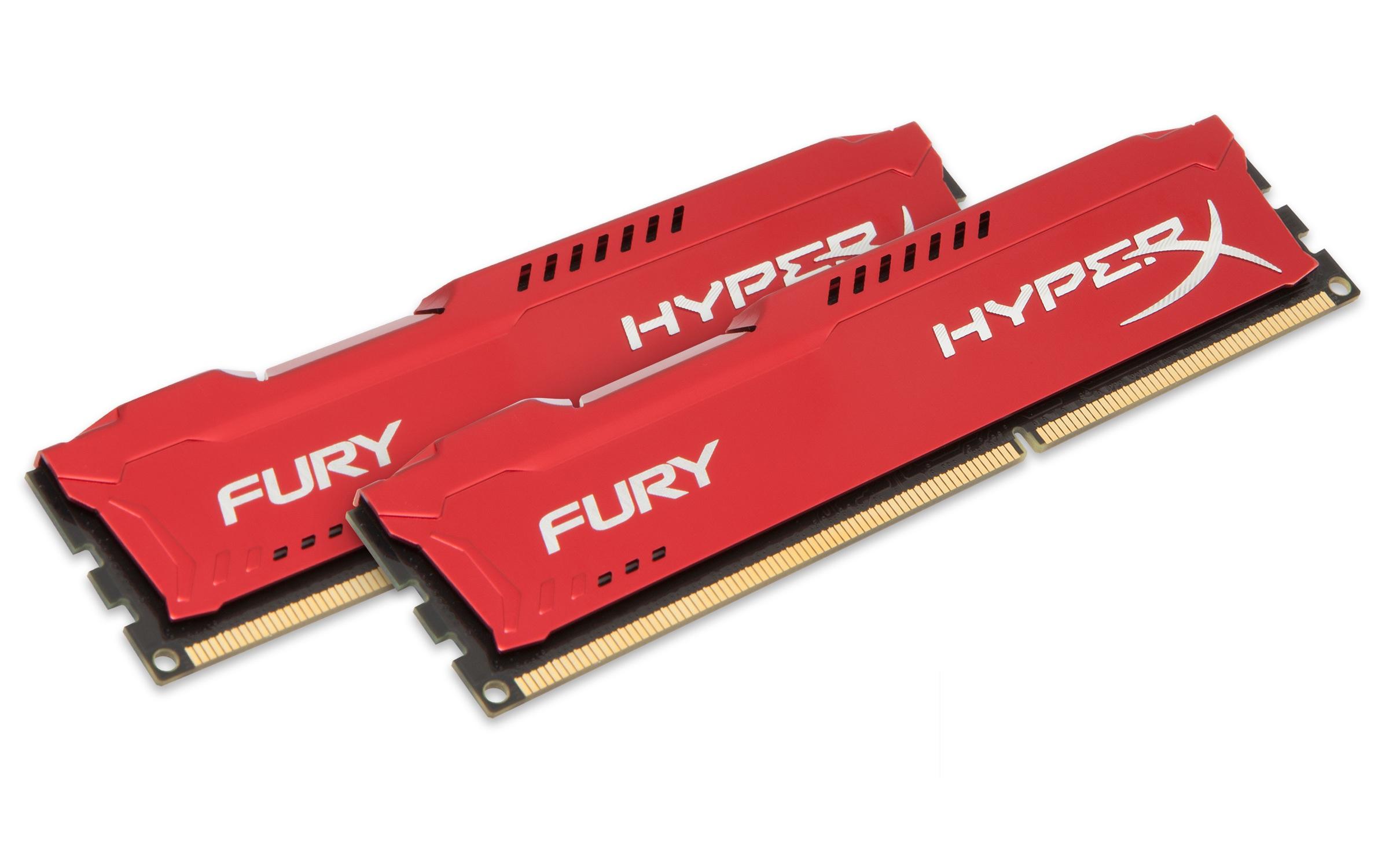 HyperX FURY Red 16GB 1600MHz DDR3 16GB DDR3 1600MHz memory module