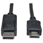 Tripp Lite DisplayPort - HDMI, m-m, 6.1m 6.1m DisplayPort HDMI Black,Metallic