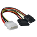 Astrotek Internal Power to SATA Molex Cable - 4 pins to 2x 15 pins 18AWG RoHS