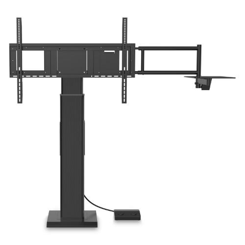 "Viewsonic VB-STND-004 flat panel floorstand 2.18 m (86"") Fixed flat panel floor stand Black"