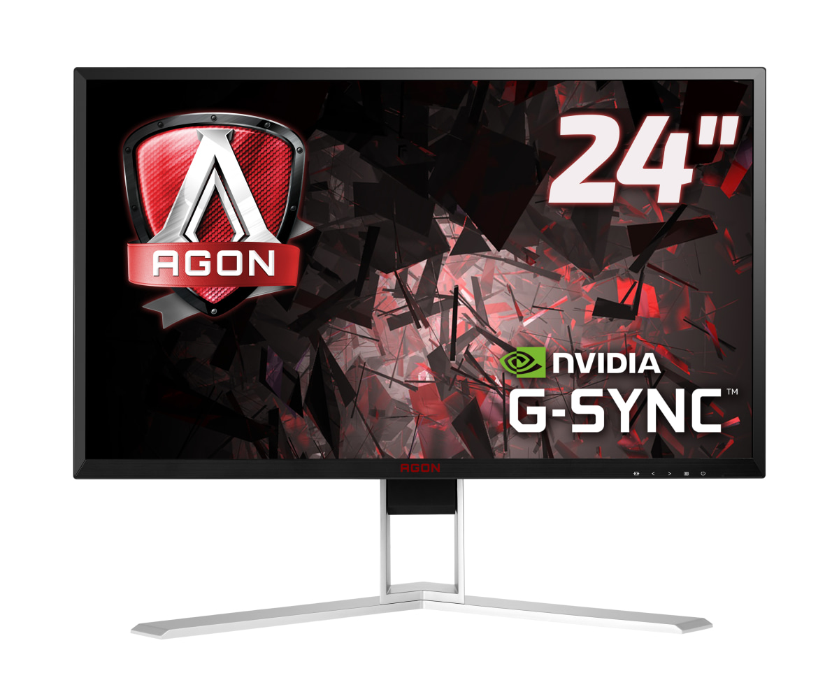 "AOC Gaming AG241QG pantalla para PC 60,5 cm (23.8"") 2560 x 1440 Pixeles Quad HD LED Plana Negro, Rojo"