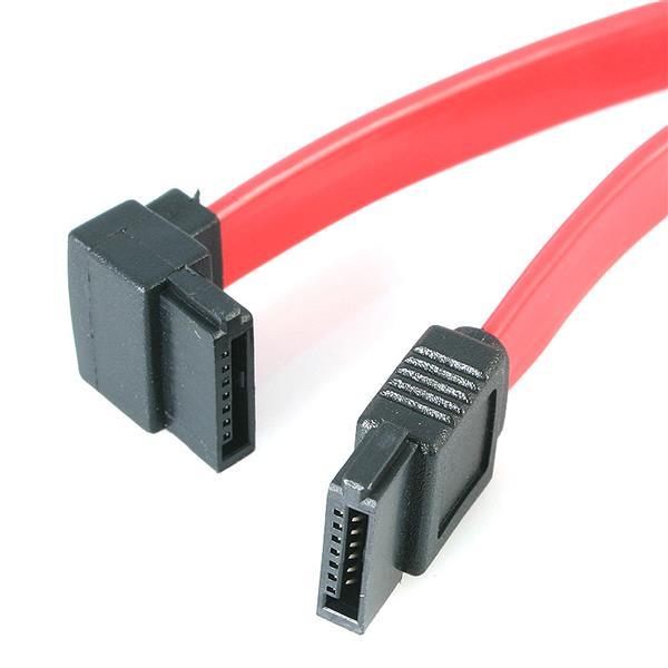 StarTech.com 18in SATA to Left Angle SATA Serial ATA Cable - F/F SATA18LA1