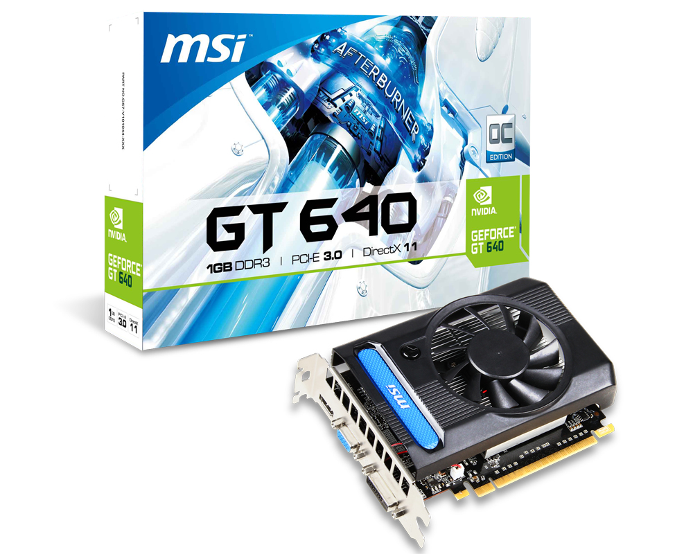 MSI NVIDIA GeForce GTX 640 1GB