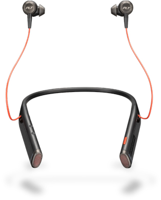 Plantronics Voyager 6200 UC mobile headset Binaural In-ear, Neck-band Black Wireless