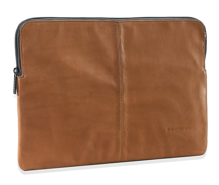 Brown Leather Slim Sleeve For iPad 13in