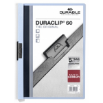 Durable Duraclip 60 report cover Light Blue, Transparent PVC