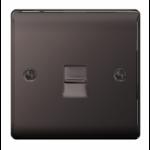 Nexus NBNBTM1 socket-outlet RJ-11 Black, Nickel