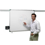 Nobo ProRail Non-Magnetic Drywipe Board 1200x900mm