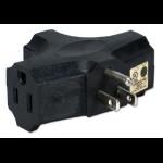 QVS PA-3P-4PK power plug adapter NEMA 5-15 Black