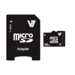 V7 Micro SDHC 16GB Class 10 + SD Adapter VAMSDH16GCL10R-2E