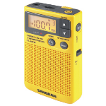 Sangean Pocket Radio Portable Yellow Clock/Portable Radio