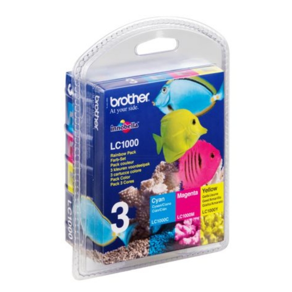 Ink Cartridge Rainbow Blister Pack (lc-1000)