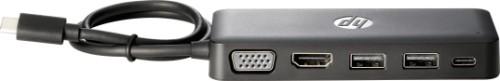 HP USB-C Travel HUB USB 3.2 Gen 1 (3.1 Gen 1) Type-C Black