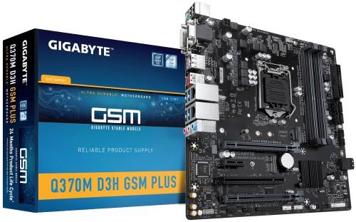 Gigabyte Q370M D3H GSM Plus LGA 1151 (Socket H4) micro ATX Intel Q370