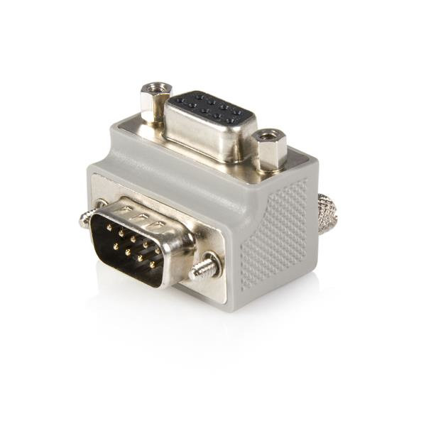 StarTech.com Right Angle DB9 to DB9 Serial Cable Adapter Type 2 - M/F GC99MFRA2