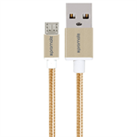 Promate 'linkMate-U2M' Ultra-Durable Mesh Braided Micro-USB Sync & Charge Cable, 120cm , Gold