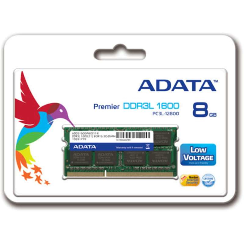 8GB DDR3l SO-DIMM 1600 512x8 Singal Tray