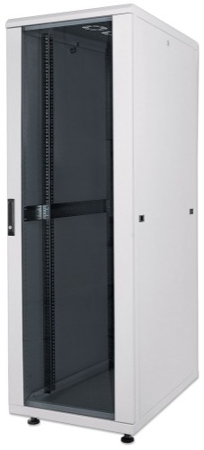 "Intellinet 19"" Network Rack, 36U, 1766 (h) x 600 (w) x 800 (d) mm, IP20-rated housing, Max 1500kg, Flatpack, Grey"