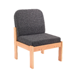 Arista Reception Seat Beech Veneer Chair