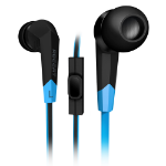 Roccat Syva In-Ear High Performance Gaming Headset with Built-in Microphone, Black/Blue (ROC-14-100)