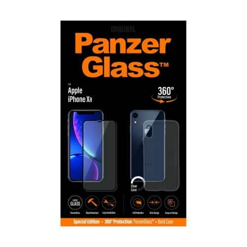 "PanzerGlass B2641 mobile phone case 15.5 cm (6.1"") Cover Black,Transparent"