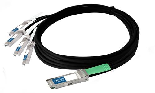 AddOn Networks QSFP+/4xSFP+, 3m InfiniBand cable QSFP+ 4 x SFP+ Black