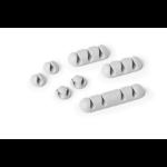 Durable Cavoline Clip Mix Cable holder Desk Grey