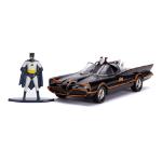 DC COMICS Batman 1966 TV Series Classic Batmobile Die-cast Toy Car with Batman Die-cast Figure, Unisex, 1:32 S