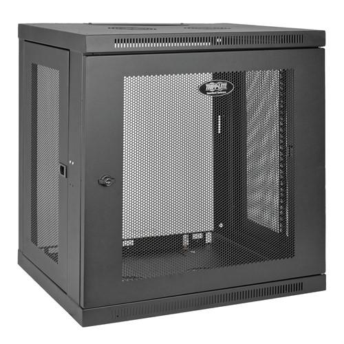 Tripp Lite SmartRack 12U Low-Profile Switch-Depth Wall-Mount Rack Enclosure Cabinet