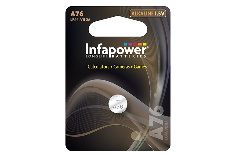 INFAPOWER A76 Alkaline Coin Cell Battery 1.5V