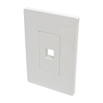 Tripp Lite 1-Port Single-Gang Universal Keystone Wallplate, White