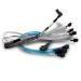 Broadcom 05-50063-00 cable Serial Attached SCSI (SAS) 1 m Negro, Azul, Plata