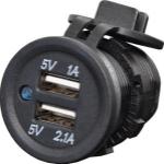 Altronics Dual USB Waterproof Panel Mount 3.1A Charging Socket