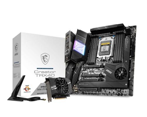 MSI Creator TRX40 motherboard sTRX4 Extended ATX AMD TRX40